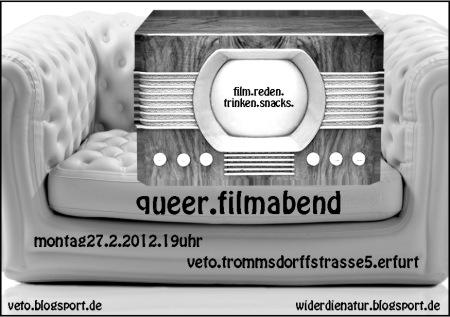 Queer-Filmabend am 27. Februar 2012 der Gruppe