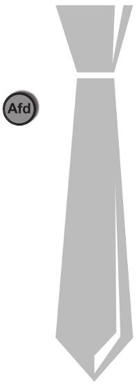 ein anzugschlips mit einem afd-symbol daneben