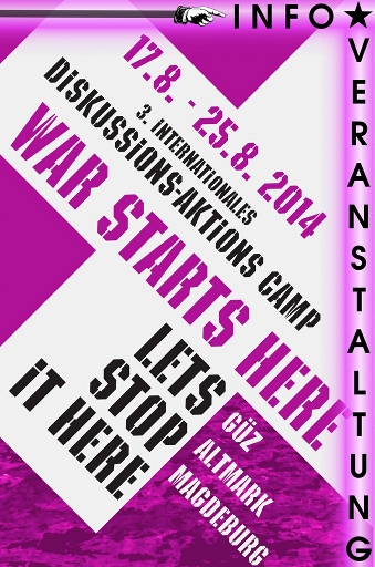 poster Info veranstaltung warstartsherecamp 14
