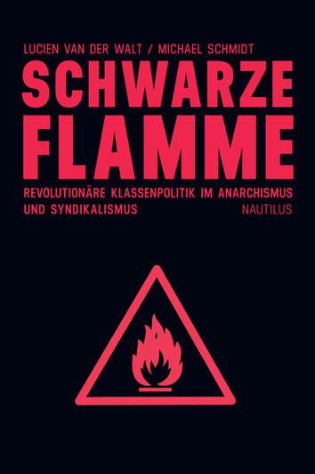 ein bild des schwarzen buchtitels. drauf ist eine rote flamme in einem roten dreieck