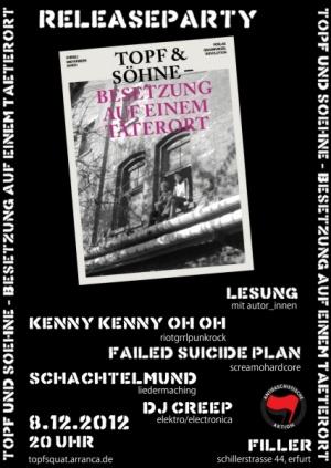 Topf & Söhne-Buch - Relasepartyflyer
